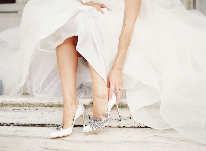 Bride-in-Manolo-Blahnik-Swan
